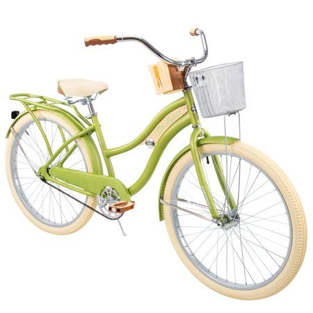 Huffy Nel Lusso Classic Cruiser Bike With Perfect Fit Frame Women S Green 26 Walmart Com Cruiser Bike Bicycle Bike Riding Benefits