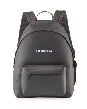 Leather backpack, Leather