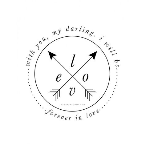 """With you, my darling, I will be forever in love"" print by Parima Studio"