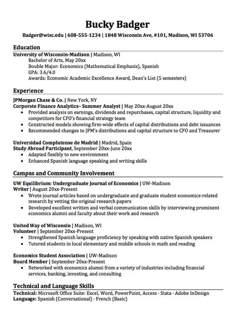 Double Major Economics Resume Sample -    resumesdesign - hospital volunteer resume