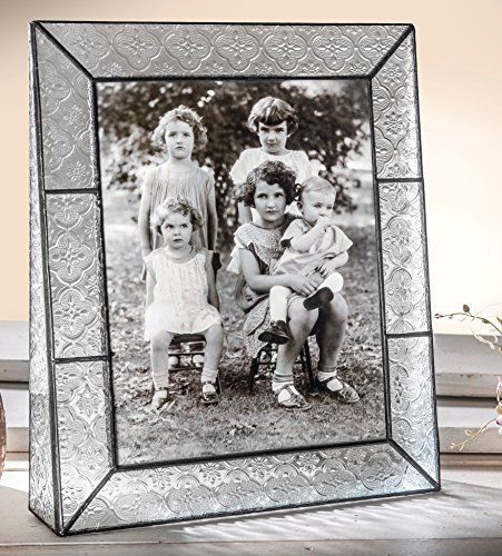 8x10 Picture Frame Vertical Stained Glass Picture Frame Keepsake Photo Frame Vintage Home Decor Colorful Wedding Frame Gift  Pic 137-81V