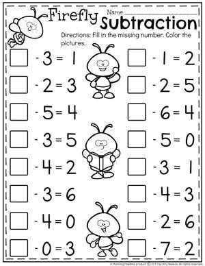 Subtraction Worksheets Kindergarten Math Worksheets