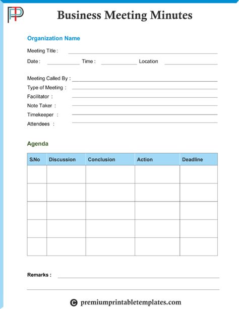 Professional Minutes of Meeting Templates \u2013 The minutes should