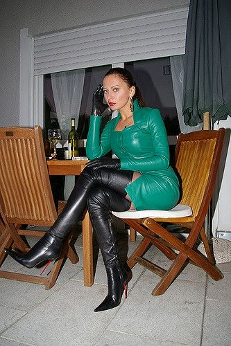 LEDER OVERKNEE STIEFEL 1969 ITALY NP7 HIGH HEELS CROTCH TALL