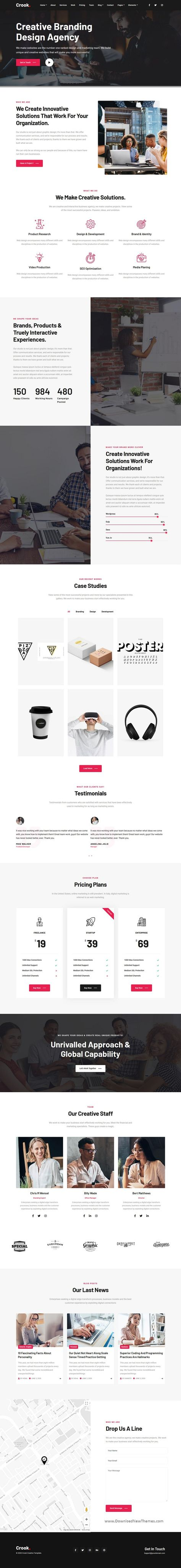 Agency - One and Multi-Page Multipurpose Template