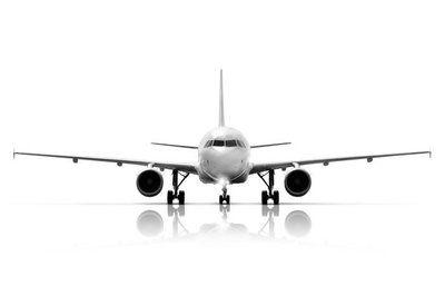 Muursticker Commerciele Vliegtuig Model Op Een Witte Achtergrond Vliegtuig Witte Achtergrond Muurstickers