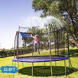 Ct Trampolin Sprinkler Trampolin Spray Wasserpark Spass Sommer Outdoor Wasserspiel Trampolin Zubehor Zum Anbringen Am Trampoli In 2020 Wasserspiele Im Freien Trampolin
