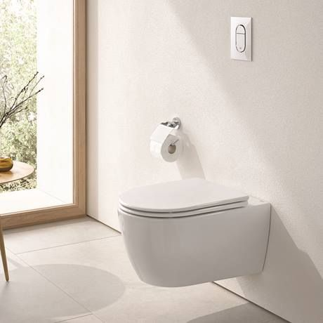 Grohe Essence Rimless Wall Hung Toilet With Soft Close Seat Wall Hung Toilet Wall Hanging Grohe