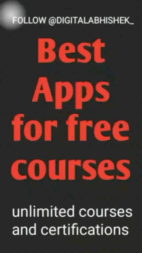 Free apps for online courses