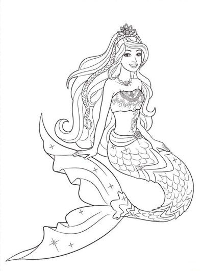Hasil Gambar Untuk Mewarnai Barbie Mermaid Dengan Gambar