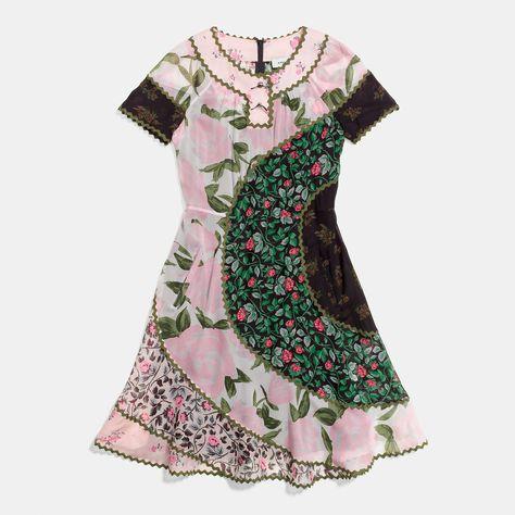 COACH: Mixed Print Circle Dress