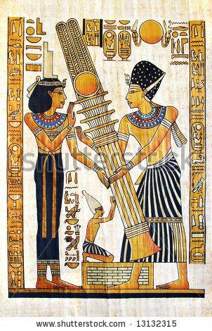 Beautiful Egyptian Papyrus Stock Photo 13132315 : Shutterstock