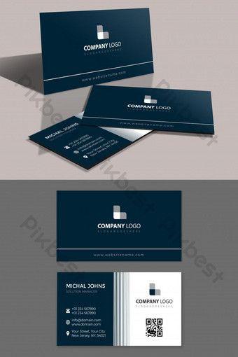Gray Blue Corporate Business Card Ai Free Download Pikbest Corporate Business Card Business Brochure Design Blue Business Card