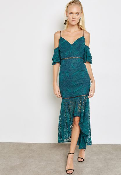 تسوق فستان بتداخلات دانتيل ماركة لون أخضر في مسقط ومسندم Lt0083 Party Dresses For Women Lace Dress Womens Dresses