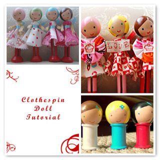 Adorable clothespin dolls