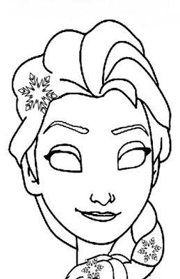 La Maestra Linda Maschera Frozen Da Colorare Trapunta Disney