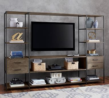 Designed For Your Media Or Entertaining Space This Suite From The Industrial C Living Room Entertainment Center Living Room Entertainment Living Room Tv Stand