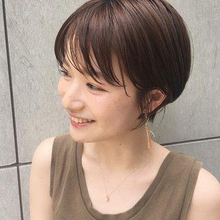 ナチュラル 黒髪 デート ヘアアレンジ I Omotesando ショート