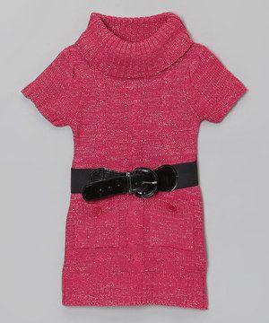 Look at this #zulilyfind! Dollhouse Pink Belted Sweater Dress - Girls by Dollhouse #zulilyfinds