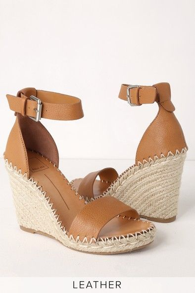 e45619971d4 Noor Tan Leather Espadrille Wedges | CollectiveStyles.com ♥ Fashion ...