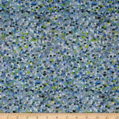 Liberty Fabrics Pointillism Lawn Blue Green Blue Green Fabric