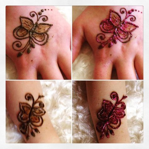 tatoo Henna butterflies #henna...