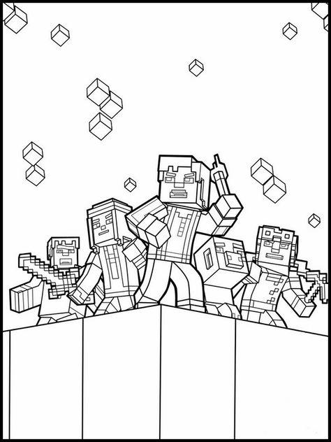 Desenhos Para Colorir E Imprimir Do Minecraft Nel 2020 Con