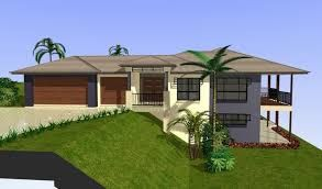 What Type Of House Can I Put On A Sloping Land And Is A Corner Bllock Google Search In 2020 Sloping Lot House Plan Contemporary House Plans House Plans