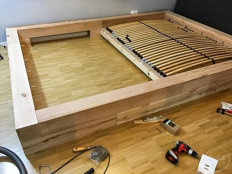 Bauanleitung Diy Familienbett Selber Bauen Bett Bauen Familien Bett Bett Selber Bauen