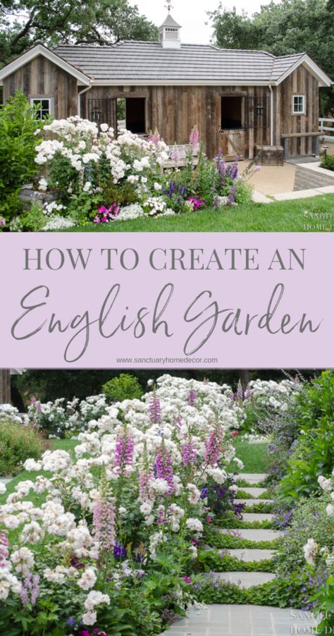 to Create a Romantic English Garden - Garden Flower Ideas-Foxglove-Delphinium-Garde.How to Create a Romantic English Garden - Garden Flower Ideas-Foxglove-Delphinium-Garde. Garden Types, Diy Garden, Dream Garden, Garden Grass, Garden Paths, Garden Club, Spring Garden, Dogs Party, Back Gardens