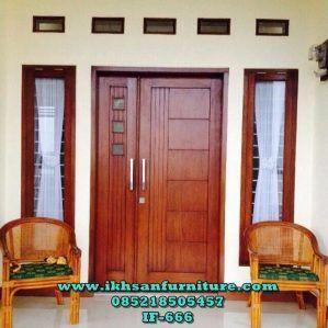 Pintu Kupu Tarung Lebar Sebelah Daun Pintu Rumah Minimalis Modern Ikhsan Furniture Jepara Jendela Rumah Arsitektur Desain Eksterior