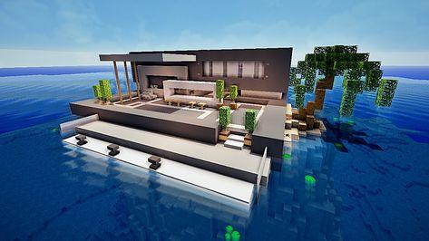 Stunning Maison Moderne De Luxe Avec Piscine Minecraft ...