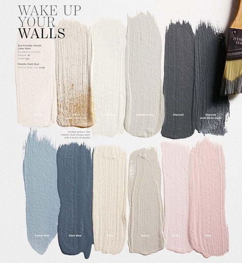 Restoration Hardware Neutral Paint Colors. Love the blues and pinks -- neutral but not plain!
