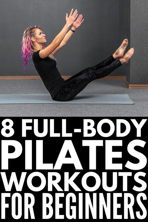 Tighten and Tone: 8 Full Body Pilates Workouts for Beginners before and after for beginners reformer reformer exercises studio workout Pilates Workout Routine, Pilates Training, Pilates Abs, Ejercicios Mat Pilates, Pilates Videos, Videos Yoga, Pilates At Home, Pilates Reformer Exercises, Pilates Studio