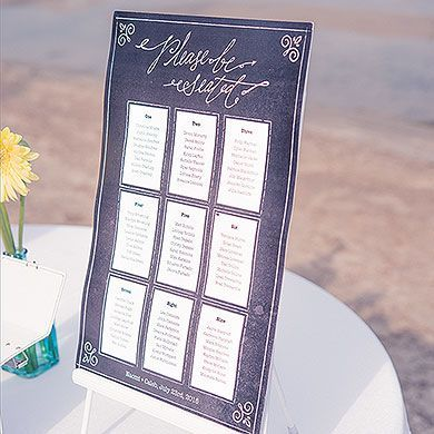 Personalized Seating Chart Kit With Chalkboard Print Design Seating Chart Wedding Wedding Table Decorations Diy Chalkboard Print