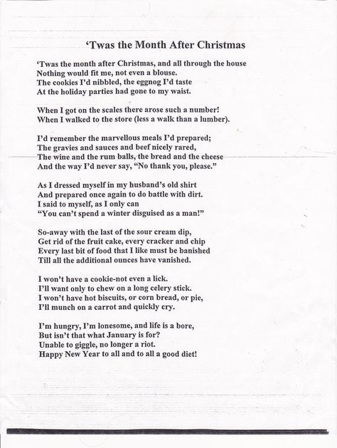 After Christmas poem...all too true...: