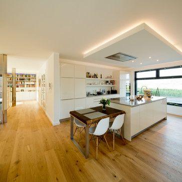 Küche \/\/ 2 Blöcke mit Bar - Schreinerei Küche Pinterest House - abgehängte decke küche