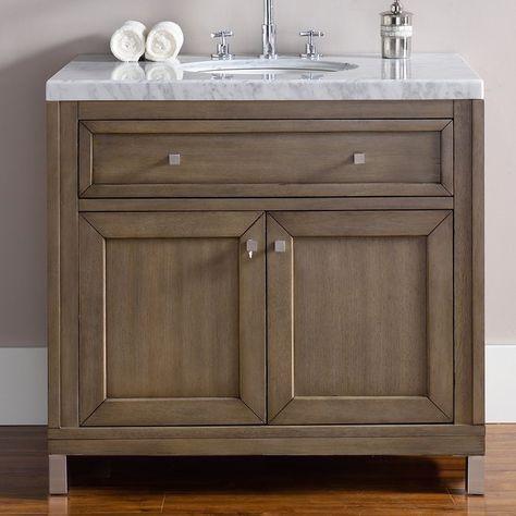 james martin furniture chicago 36 single white washed walnut rh pinterest ru Contemporary Bathroom Vanities Farmhouse-Style Bathrooms
