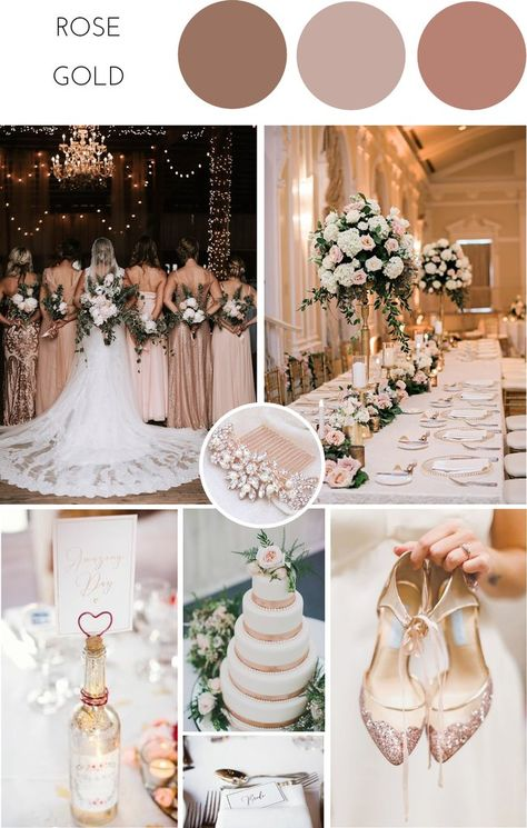 Ideas for Achieving a Glamorous Rose Gold Wedding – Confetti Sweethearts