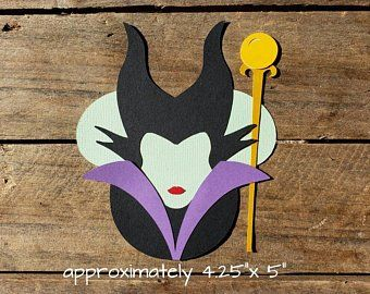 Maleficent Villain Disney Inspired Die Cut Paper Doll Scrapbook Embellishment