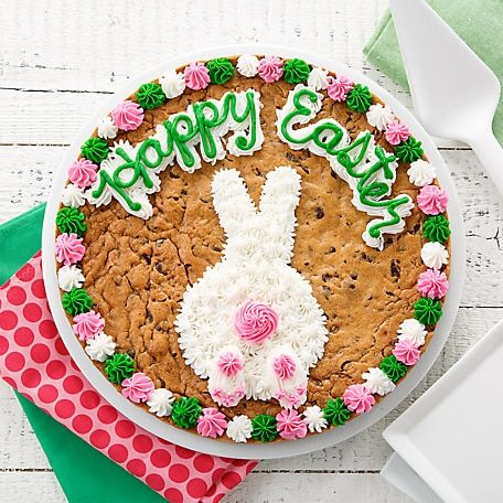 Mrs Fields Happy Easter Cookie Cake In 2020 Easter Cookie Cake