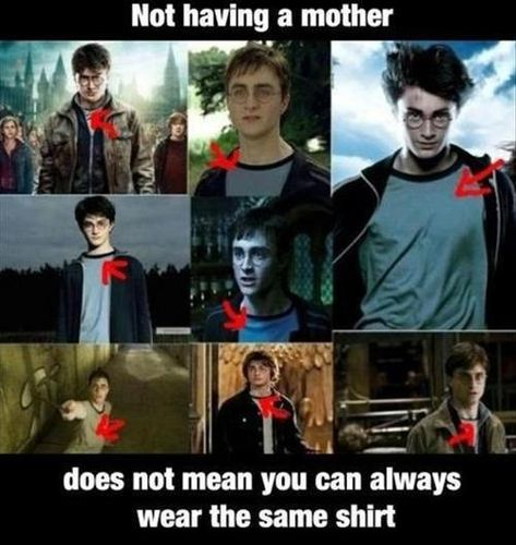 harry potter memes   Wearing the Same Shirt Again and
