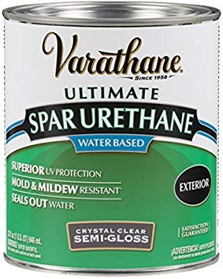 Rust Oleum Varathane 250241h 1 Quart Classic Clear Water Based Outdoor Spar Urethane Semi Gloss Finish Househo Rustoleum Gel Stain Farmhouse Outdoor Benches