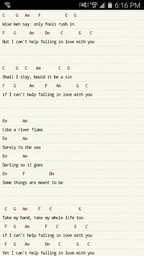 Ukulele chords: I Can't Help Falling in Love With You part 1. ~Hayden Smart