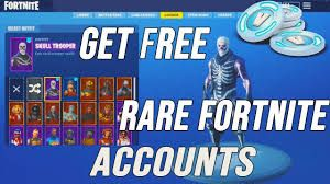 How To Get A Free Fortnite Account With Skins