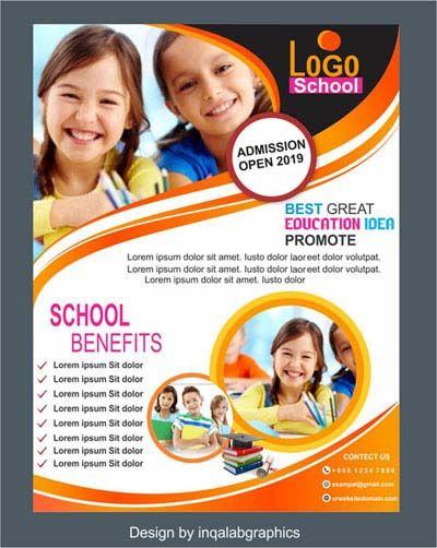 School Banner Design Education School Brochure Template Free Vector Coreldraw Free Download Free Brochure Template School Brochure Education Poster Design