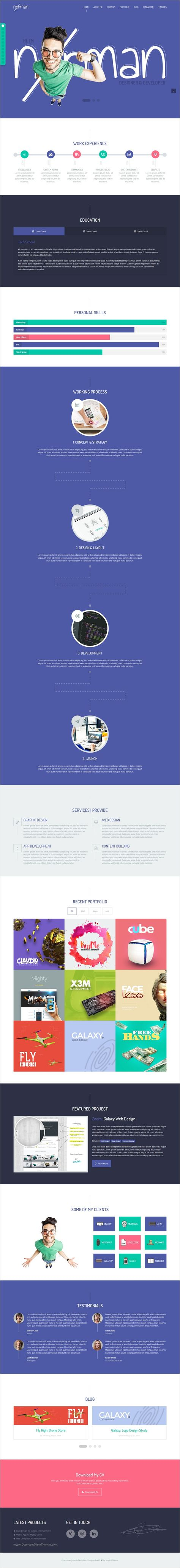 it norman cv portfolio and freelancer joomla template gantry 5 clean design resume cv and website designs - Resume Cv Joomla Template