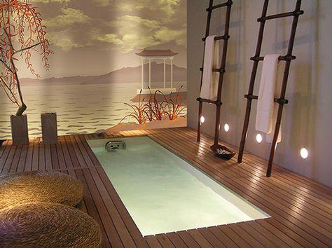 deco salle de bain zen avec toile murale | Salle de bain ...