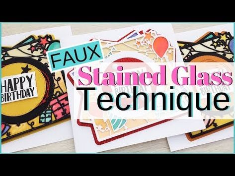 Fabric printstained glass effect card.