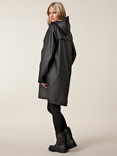 Than Long Jacket - Rains - Svart size S/M | In my closet ...